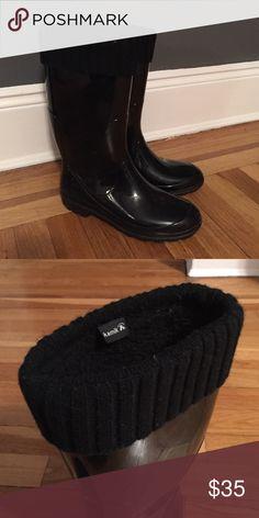 Black Kamik Rain Boots Black rain boots, never worn, built in socks. Kamik Shoes Winter & Rain Boots