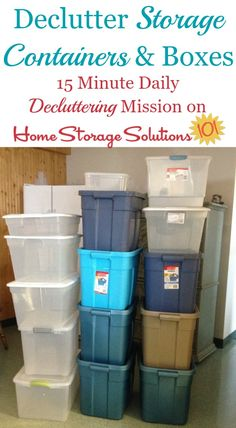 #Declutter365 mission to get rid of empty storage containers and storage boxes that you accumulate as you declutter the items held in them from your home {on Home Storage Solutions 101}