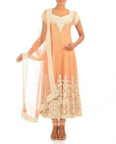 Exclusively.In  Apricot Anarkali Suit