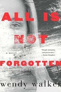 All Is Not Forgotten Great book!  Suspenseful and makes you think about memory and the role it plays in your life.