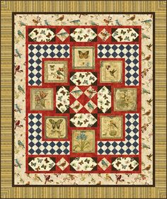 Bird Song Vintage Free Quilt Pattern. Come see more free quilt patterns at Quilting-Warehouse.com.