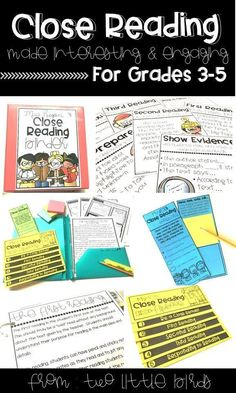 Close reading passages for the entire year, close reading anchor charts, st Close Reading, Guided Reading, Teaching Reading, Reading Classes, Reading Time, Reading Anchor Charts, Text Evidence, Reading Comprehension Passages, Digital Print