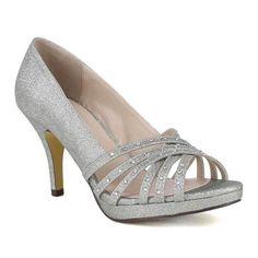 Celeste Women's Sanyo-03 High Heel Open Toe Shining diamond Platform Fashion Pumps