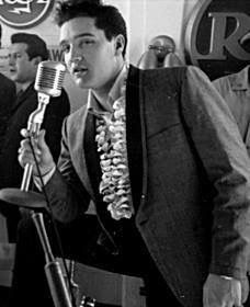 Elvis at the Hawaii press conference in 1961