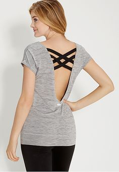spacedye top with strappy scoop back (original price, $26) available at #Maurices