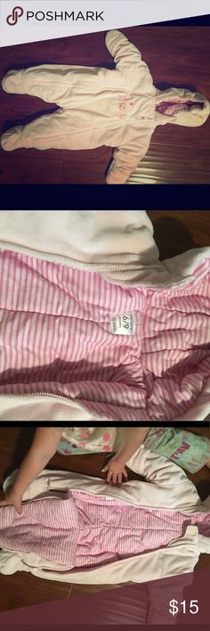 Carter's pink Bunting suit 6/9months In perfect condition. Very warm and conveniently zips over clothes. Perfect for this cold weather on its way!! Open to offers. Posh on✌🏽✌🏽 Carter's Jackets & Coats Puffers