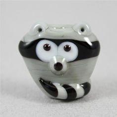 Francesca DeCaire #lampwork #raccoon #bead