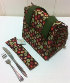 Lunch bag and silverware holder!