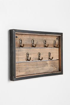 """EASY HACK :: Reclaimed Wood Key Hook :: $24 