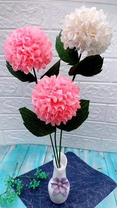 gifts for her flowers Diy Origami Flower Kids Crafts, Diy Crafts Hacks, Diy Arts And Crafts, Kids Diy, Creative Crafts, Paper Crafts Origami, Origami Art, Diy Paper, Origami Rose