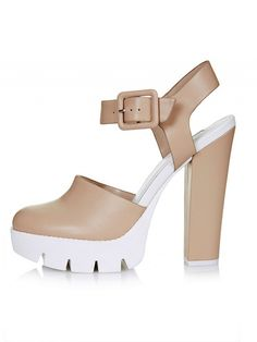 Topshop Slick Cleated Sole Platforms