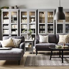 Living room organization inspiration, with a little help from some HEMNES…