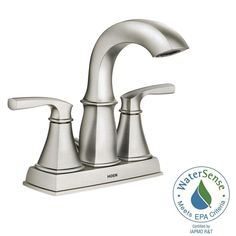 Centerset 2 Handle Bathroom Faucet Featuring Microban Protection In Spot  Resist Nickel. Bathroom Sink FaucetsHome DepotHandle