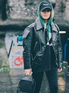 WEBSTA @ miraduma - to the end of the never ending fashion month Mira Duma, Miroslava Duma, Balenciaga, Fall Winter, Leather Jacket, Instagram Posts, Jackets, Furs, Style