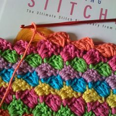 This diagonal #crochet #pattern would make a quick #blanket!  Has english pattern