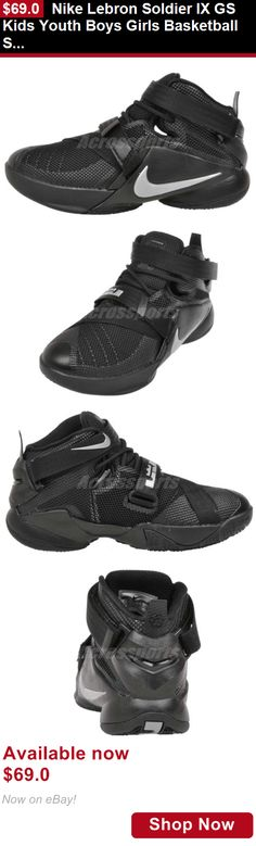 Children boys clothing shoes and accessories: Nike Lebron Soldier Ix Gs Kids Youth Boys Girls Basketball Shoes 776471-001 BUY IT NOW ONLY: $69.0