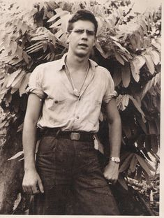 Lonnie Kirby 3rd class machinist mate US Navy Seabee on  Bougainville 1943-1945