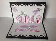carte kirigami bonne annee 2016