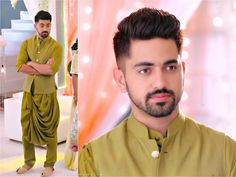 Indian Men Fashion, Boy Fashion, Mens Fashion, Zain Imam Instagram, Wedding Kurta For Men, Stylish Dp, Tashan E Ishq, Mens Kurta Designs, Wedding Costumes