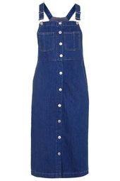 MOTO Vintage Wash Midi Pinafore Dress