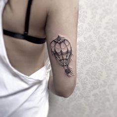 Air ballon tattoo