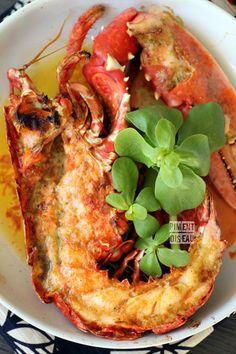 Homard au beurre de combava- Roasted lobster with kaffir-lime butter