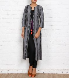 Astha & Sidharth as a label truly represents gutsy and driven designers attempting to revolutionize the design scape. Their work is a reflection of everyday beauty and uniqueness. Cotton Jacket, Palazzo Pants, Designer Collection, Duster Coat, Reflection, My Style, Grey, Designers, Label