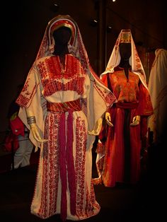 It Was a Work of Craft (Palestinian wedding costume. All of these...)