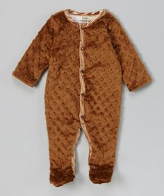 This Espresso Velour Footie - Infant by My Blankee is perfect! #zulilyfinds