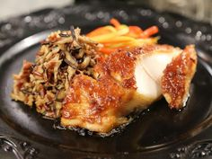Get Miso Black Cod with Dirty Shiitake Wild Rice Recipe from Cooking Channel