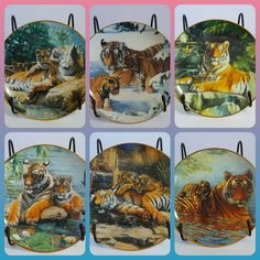 Franklin Mint Royal Doulton 6 Tiger Plates By Weberbaur Sold Individually