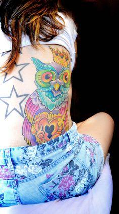 Tatuagens femininas de corujas (36 fotos) « Dona Giraffa