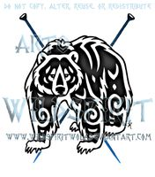 Nordic Karhu Knits Bear Logo by WildSpiritWolf