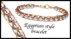 Intertwining Egyptian style wirework bracelet