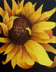 Watercolor Sunflower, Sunflower Art, Watercolor Flowers, Acrylic Flowers, Sunflower Pictures, Sunflower Wallpaper, Beautiful Flowers Garden, Black Eyed Susan, Colorful Drawings