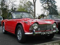 Triumph TR 4A IRS - I learned to drive a stick on one (it was red, too!)
