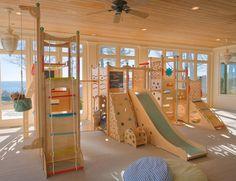 cedarworks - fantastic - my play room dream :-) Indoor Playset, Kids Indoor Playhouse, Build A Playhouse, Modern Playground, Kids Indoor Playground, Swing Sets For Kids, Kids Swing, Kids Cafe, Kids Room Design
