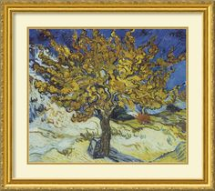 'The Mulberry Tree' by Vincent van Gogh Framed Painting Print