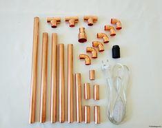 plan tutoriel lampe en cuivre d co pinterest cuivre plans et lampes. Black Bedroom Furniture Sets. Home Design Ideas