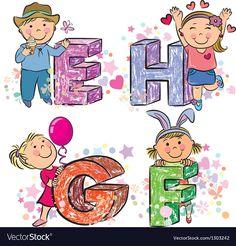Alphabet Kids Abc Vector Images (over Cute Letters, Letters For Kids, Abc For Kids, Alphabet For Kids, Animal Alphabet, Letters And Numbers, Giraffe For Kids, Owl Kids, English Abc