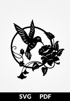 New Humming Bird Silhouette Etsy Ideas Paper Cutting Templates, Art Template, Paper Cutting Patterns, Bird Stencil, Damask Stencil, Wood Burning Patterns, Bird Crafts, Deco Floral, Silhouette Cameo Projects