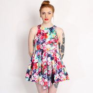 Ginger Fizz Multi Coloured Picturesque Floral Dress www.rokii.co.uk