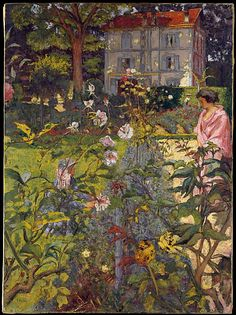 Edouard Vuillard, Garden at Vaucresson, Collection of the Metropolitan Museum of Art, New York Pierre Bonnard, Edouard Vuillard, Beaux Arts Paris, Kunst Online, Garden Painting, Fine Art, Renoir, Claude Monet, Paul Gauguin