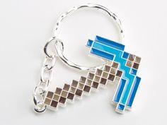 J!NX : Minecraft Diamond Pickaxe Keychain