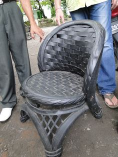 Recycled Rubber Tire Chair. #baliandbeyond [WEBSITE: http://baliandbeyond.ca] [ONLINE STORE: http://baliandbeyondonline.com/]