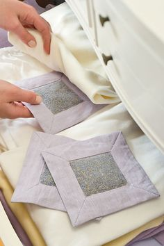 LAVENDER DRAWER SACHETS  Just the picture....unless you want to buy them!   great gift idea