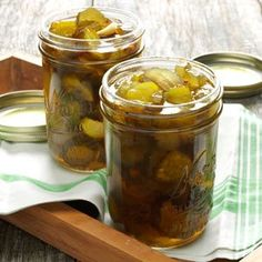 Fire-and-Ice Pickles Recipe - friend gave me some this weekend. Yummy! Easy for gifts.: