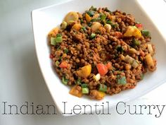 fithealthydi: Veganes Indisches Linsencurry / Vegan Indian Lentil Curry