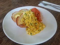 What would Martha do : Scrambled Eggs with smoked ocean trout from Annie Smither's Du Fermier, Trentham