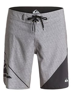 Quiksilver Mens New Wave 20 Inch Swim Boardshort New Wave Steeple Grey 38 * Find out more by clicking the VISIT button